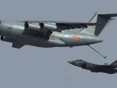 Concepção do Y-20 reabastecendo um caça J-31