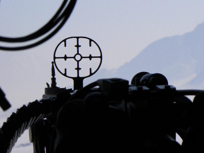 Alça de mira da MAG 7,62mm lateral.