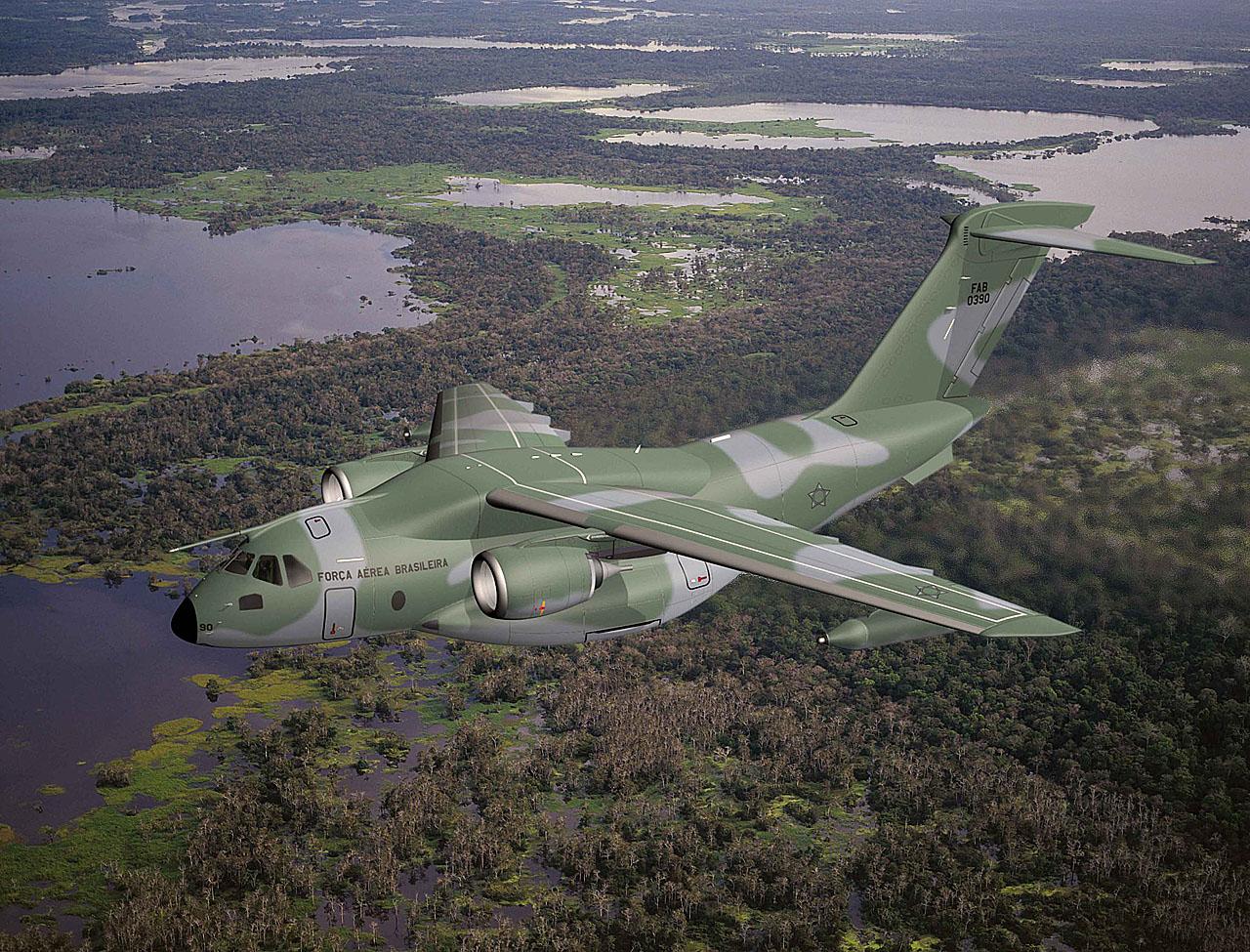 Portugal vai participar no desenvolvimento do novo cargueiro militar da Embraer: o KC-390