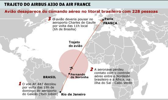 mapa-desaparecimento-voo-afr-447-folha-de-sao-paulo
