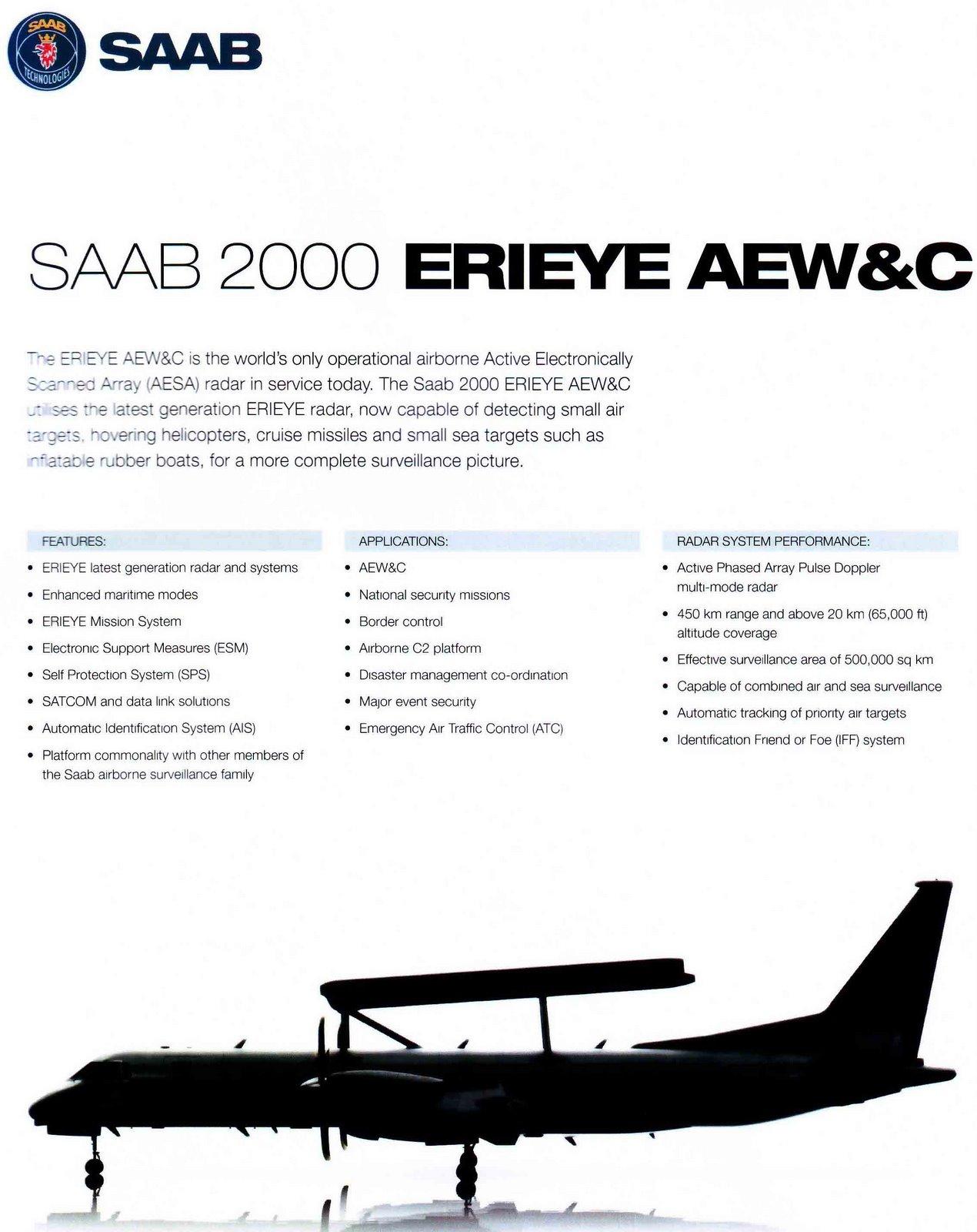 Saab 2000 AEW & C p1