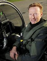 Flight Lieutenant Parkinson - 1000 hours Typhoon - photo RAF