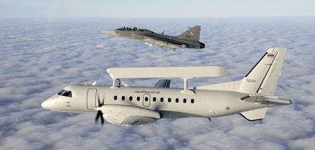 Thai_Gripen_Saab_340_AEW_45 - foto saab