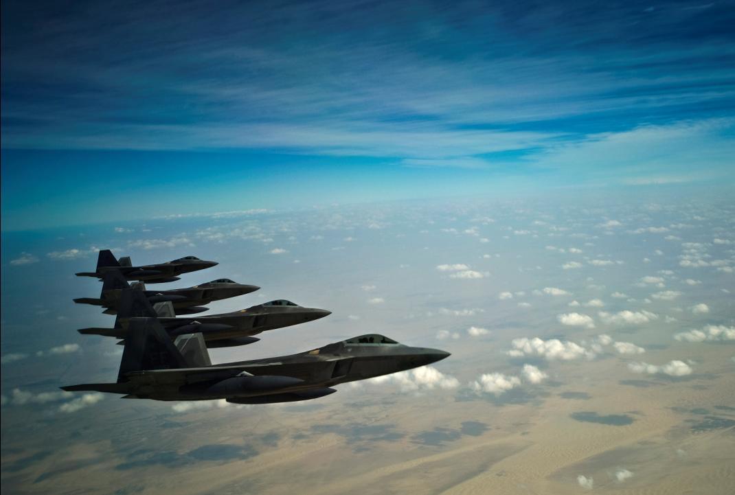F-22 Raptor no Oriente Médio - foto USAF