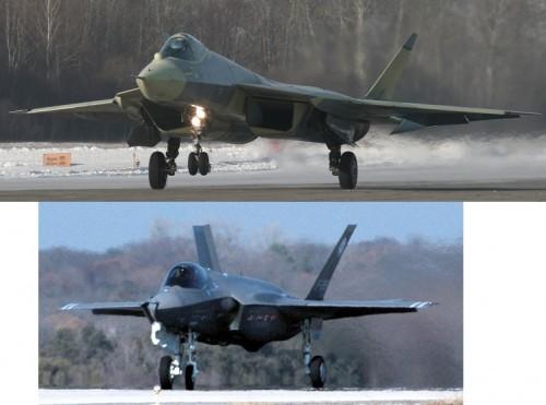 PAK FA F-35 sizecomparison