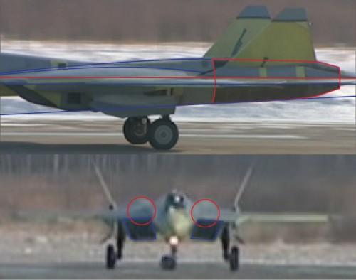 Какие решения применили российские инженеры для сокращения ЭПР перспективного истребителя.