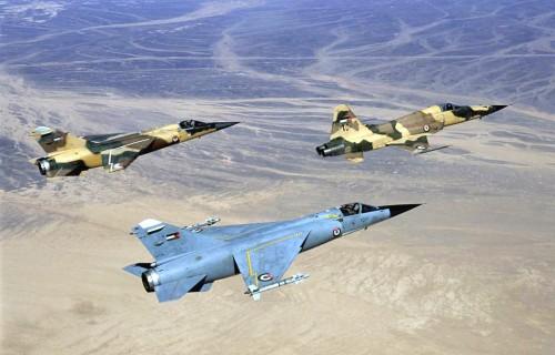 Dassault Mirage F1CJ e F-5E da Jordânia