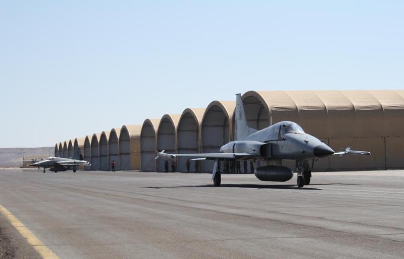 F-5 Tiger III deixam Antofagasta- foto FACH