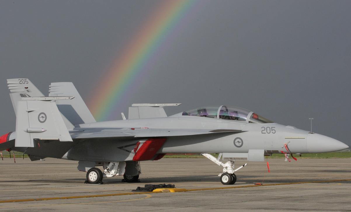 Super Hornet RAAF nos EUA  - foto via MoD Australia