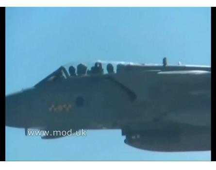 link vídeo Tornados RAF treinam nos EUA para Afeganistão