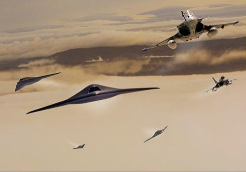Neuron e Rafale - imagem Dassault