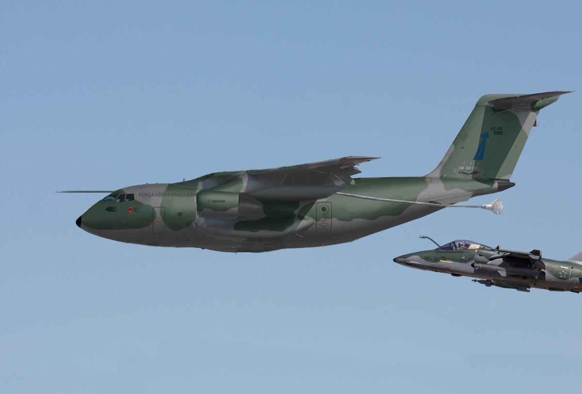 KC-390 - arte Leonardo Jones
