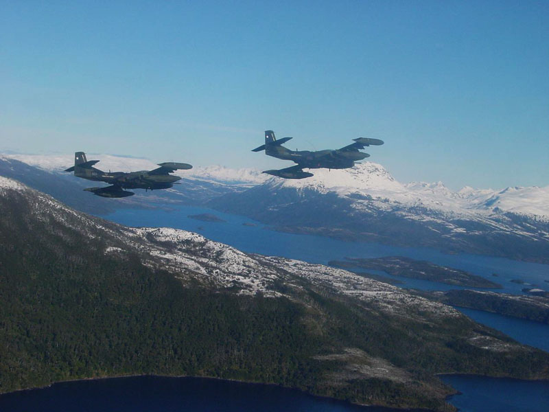 A-37 da FACh deixam IV Brigada - foto 2 FACh