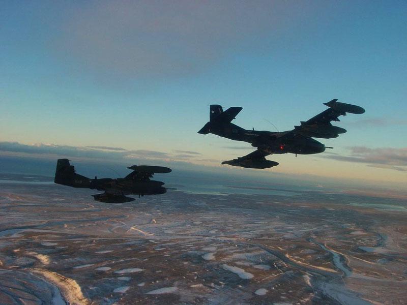 A-37 da FACh deixam IV Brigada - foto FACh