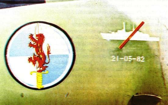MB339-4-A-115 marca do navio atingido
