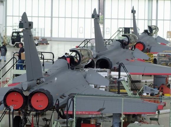 Linha de montagem do Rafale - foto Dassault