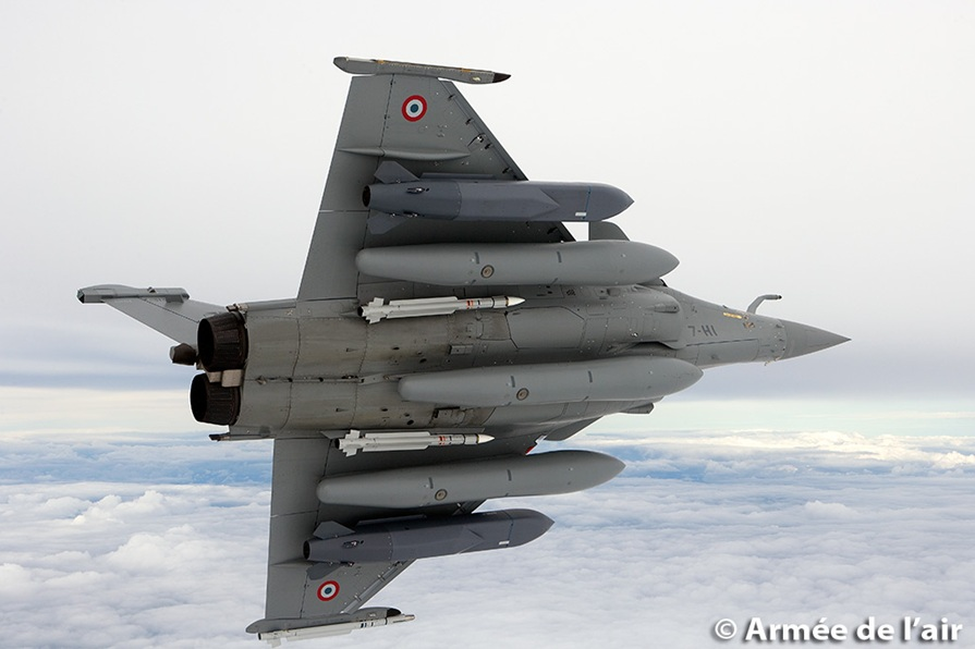Rafale com Scalp - foto Armee de l'air