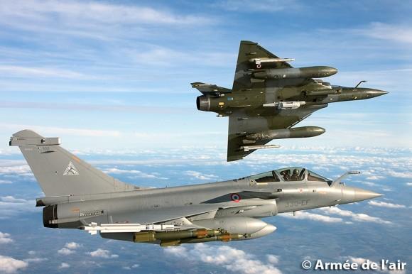 Rafale e Mirage 2000 D - foto Armee de l'air
