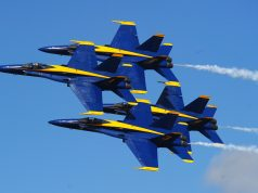 F-18 Hornets do Blue Angels