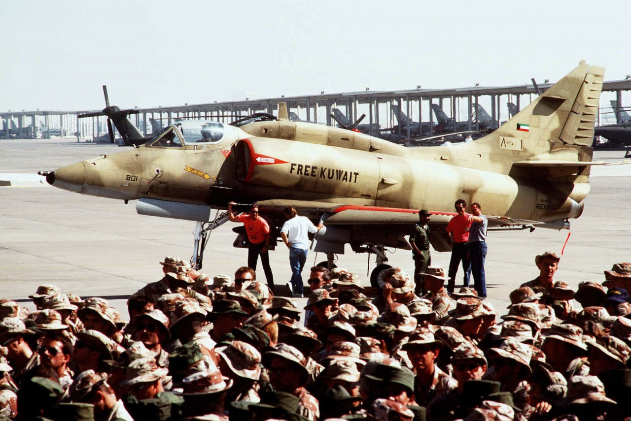 Um A-4KU da Força Aérea do Kuwait