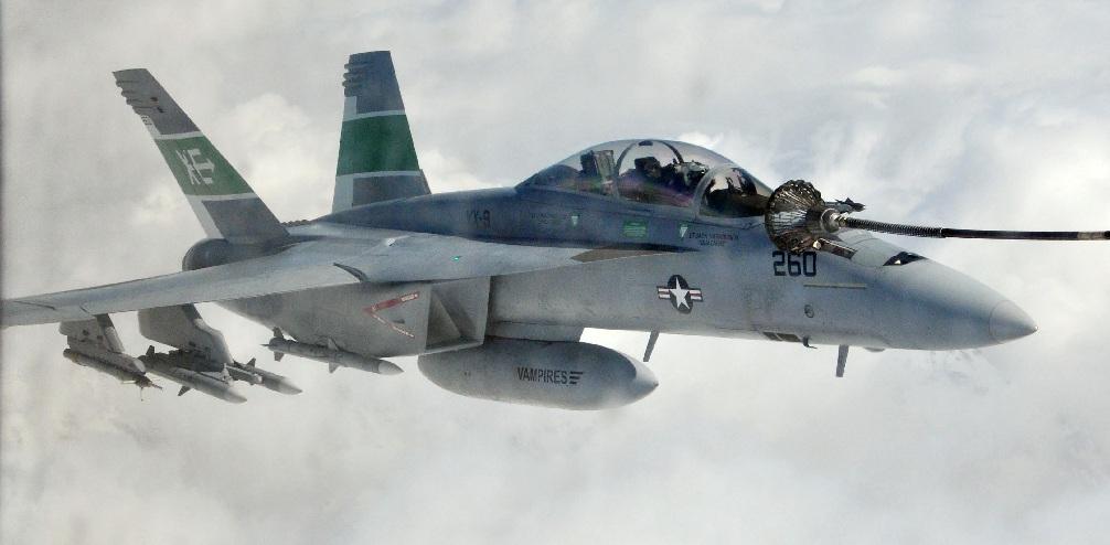 EA-18G Growler do Esquadrão de testes em voo e avaliação - VX 9 - foto USN