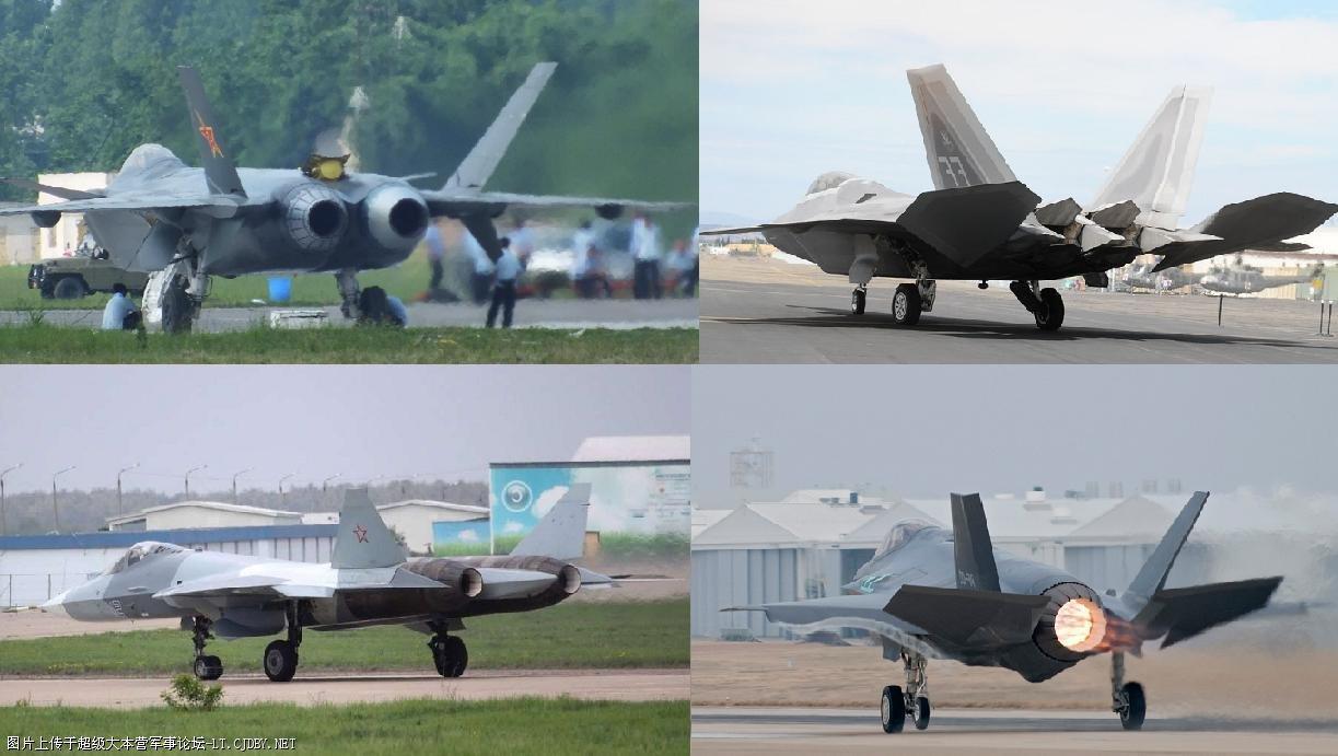 Paciência chinesa: J-20, F-22, T-50 e F-35 em fotos com