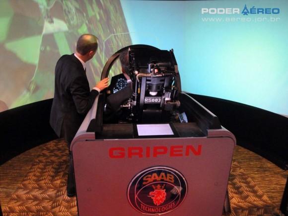 Simulador do Gripen no Open Innovation Seminar de São Paulo - foto 9- Nunão - Poder Aéreo