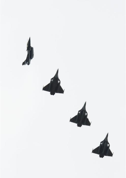 caças Rafale voltam da Líbia - foto Armee de lair
