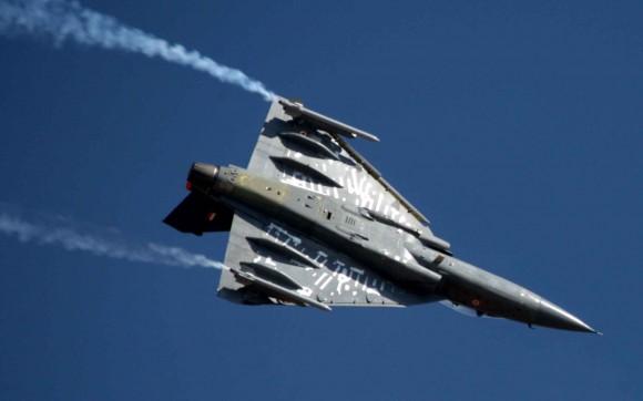 Tejas no Aero India - foto MD Indiano