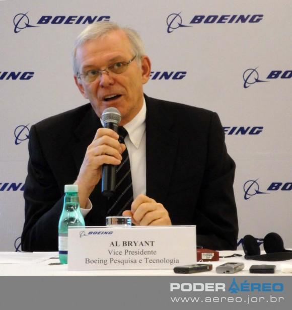 Al Bryant - coletiva Boeing anúncio Centro de Pesquisa no Brasil - foto 2 Nunão - Poder Aéreo