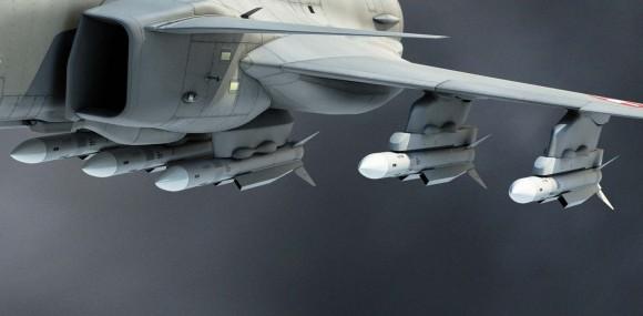 Gripen para a Suíça - detalhe de mísseis meteor em ilustração via Saab