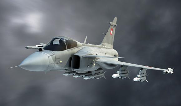 Gripen para a Suíça - ilustração via Saab