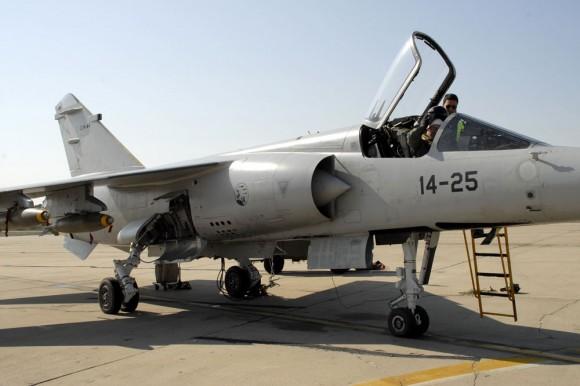 Mirage F1 espanhol no exercício Sirio Tormenta - foto Ejercito del Aire