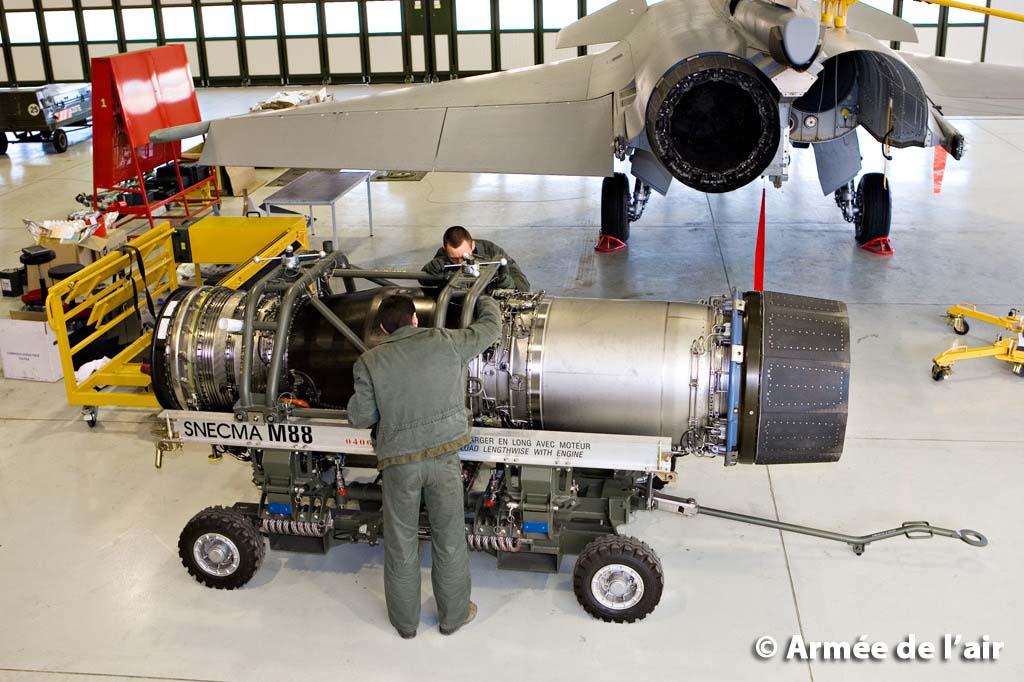 Rafale e motor Snecma M88 - foto Armée de lair