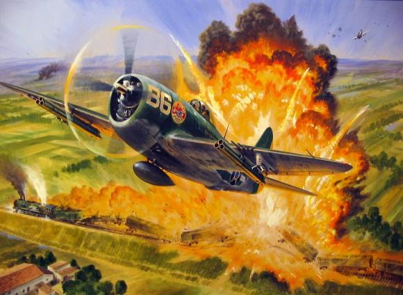 MUSAL pintura P-47 Thunderbolt aviao FAB