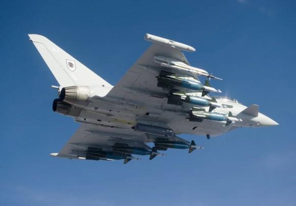 Typhoon RAF do esquadrão 11F - foto Eurofighter