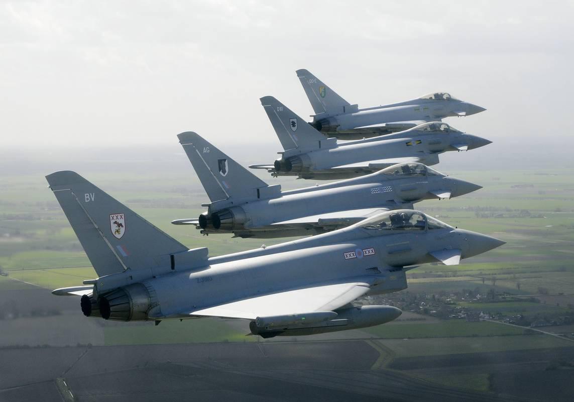 Typhoons dos esquadrões 3F - 11F - 17R e 29R da RAF - foto Eurofighter