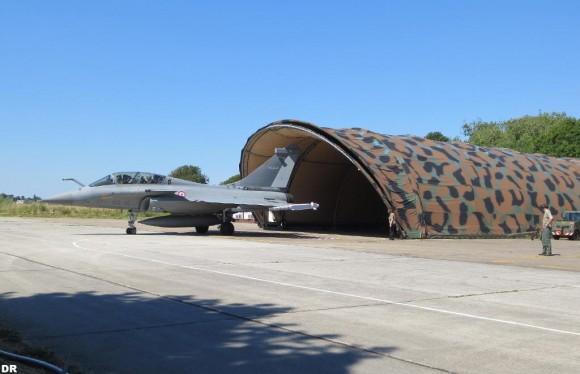 Rafale do esquadrão Gascogne em alerta de defesa aérea - foto Força Aérea Francesa