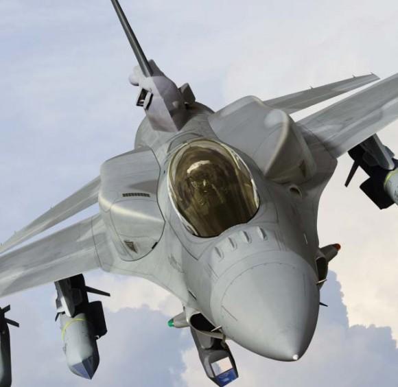 F-16 com tanques conformais armamento ar-solo e pod - imagem Lockheed Martin