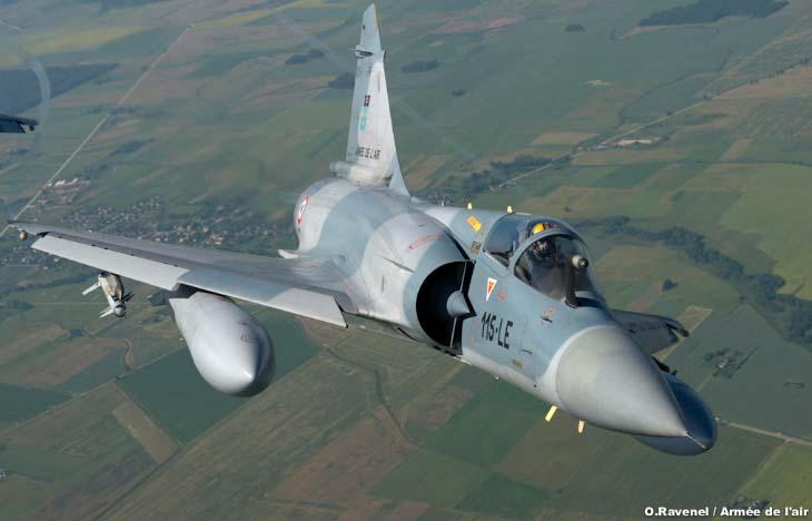 Mirage 2000C do esquadrão Ile de France - foto Força Aérea Francesa