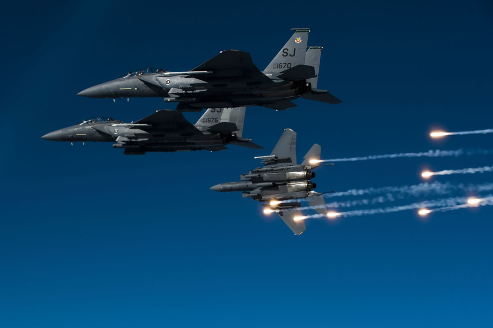 A-U.S.-Air-Force-F-15E-Strike-Eagle-aircraft-with-the-335th-Fighter-Squadron-releases-flares
