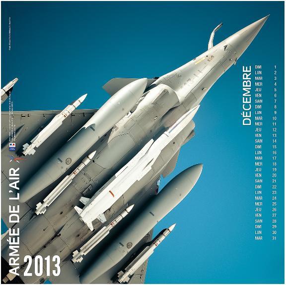 Rafale no calendário 2013 - dezembro - Força Aérea Francesa