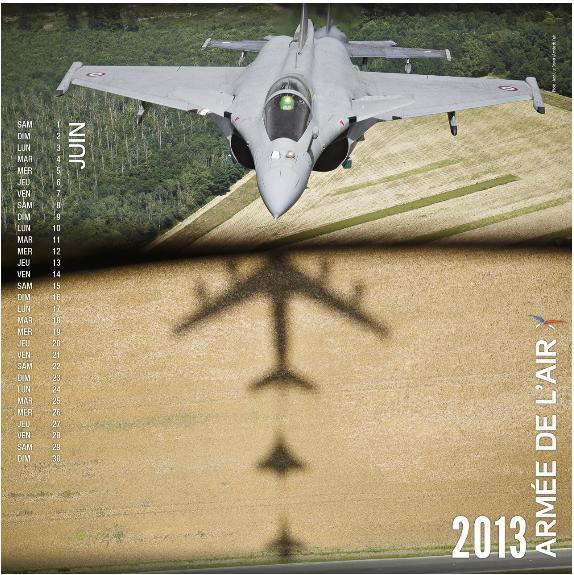 Rafale no calendário 2013 - junho - Força Aérea Francesa
