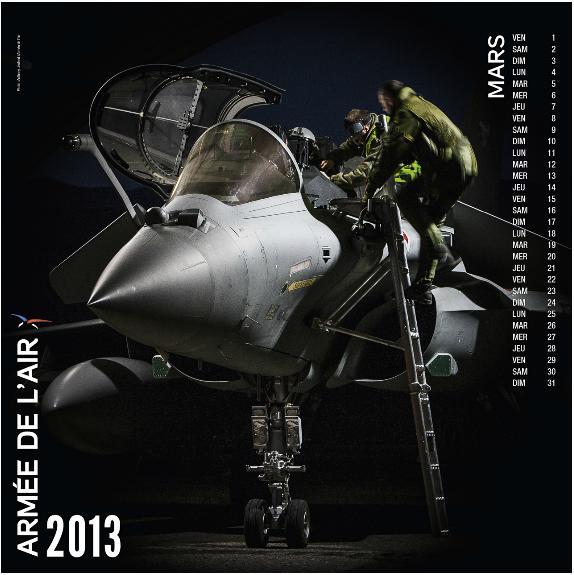 Rafale no calendário 2013 - março - Força Aérea Francesa