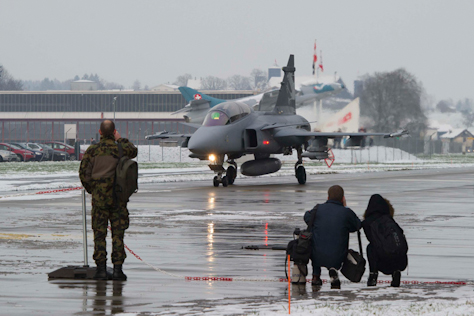 demonstrador do Gripen NG na Suica 3 - foto governo suico