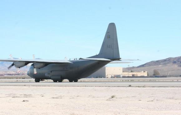 Tp84 C-130 Hercules sueco em Nellis - foto Forças Armadas da Suécia