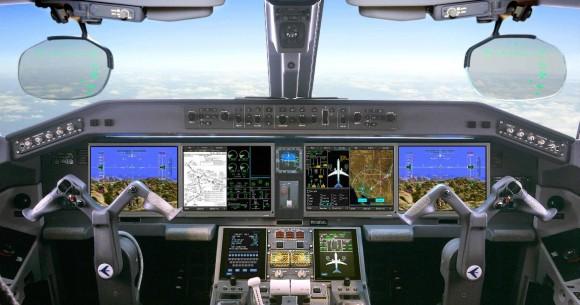 cockpit E-Jets de segunda geração - imagem Embraer