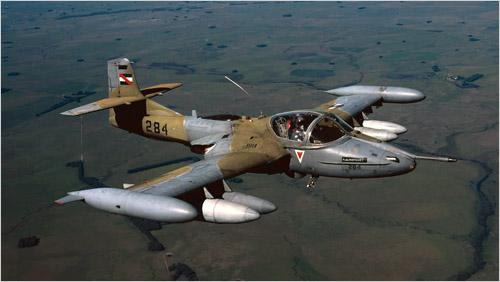 A-37 - foto Força Aérea Uruguaia