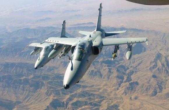 AMX italianos no Afeganistão - foto Força Aérea Italiana