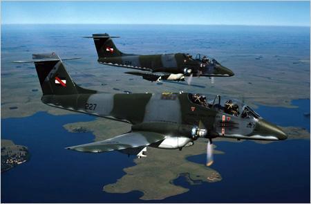 IA-58 Pucará - foto Força Aérea Uruguaia